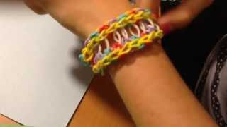 Rainbow Loom - How To Make Rope Bridge Band