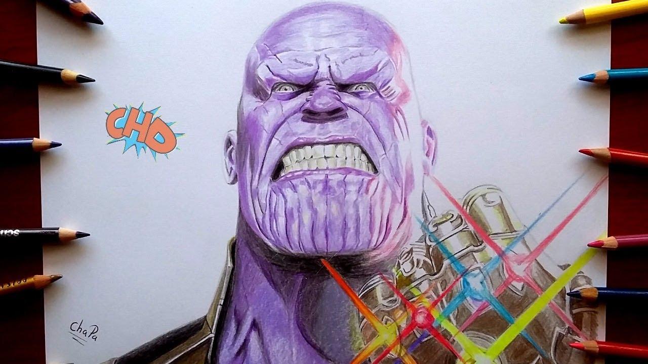 Dibujando A THANOS De AVENGERS INFINITY WAR/ Drawing THANOS Avengers Infinity War - YouTube