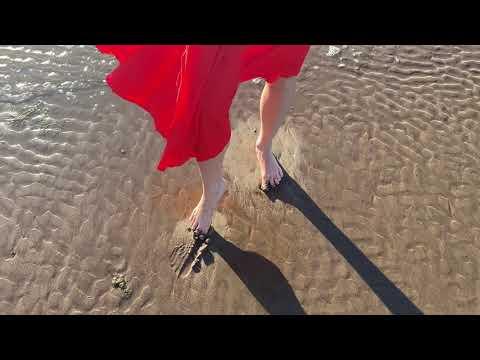 Wetlook Elena model Inna red dress