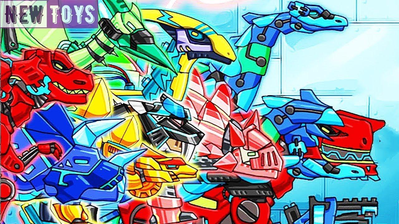 GAME DINO ROBOT: LAP RAP KHUNG LOG BAO CHUA | NEWTOYSTV #21