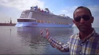 Hany Abdel-Rahman is made to cross the largest passenger ship in the world Suez Canal May 2015