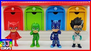 Pj Masks Tayo Garage Beads Surprise Toys. Learn Colors With Pj Masks Wrong Heads. [Jj Colors]