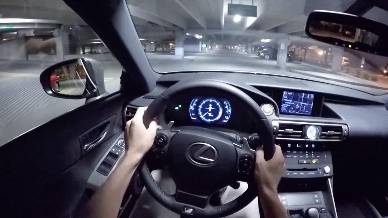 2015 Lexus IS350 F Sport WR TV POV Night Drive