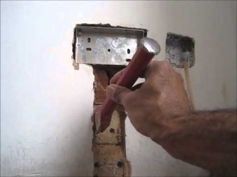 How to fit a flush double metal back box and double socket into a on install electrical outlet brick wall Install Additional Outlet Wire Electrical Outlet