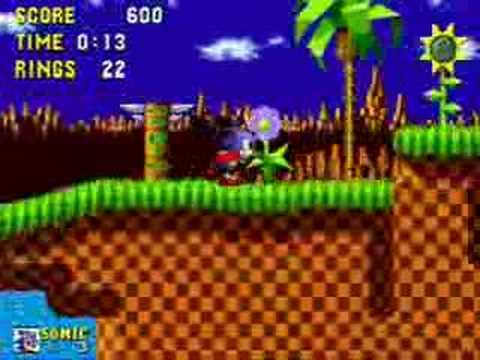 Sonic The Hedgehog Green Hill Zone Act 1 25s Speed Run Youtube