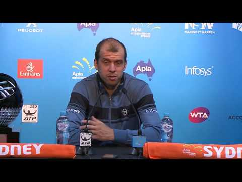 Gilles Muller Press Conference (Final) | Apia International Sydney