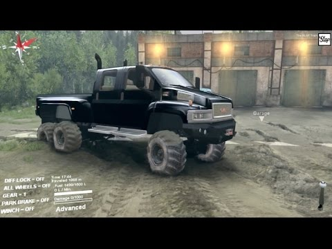 SpinTires (MODS) GMC C4500 6x6 - Testing Different Tires ...