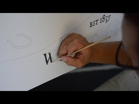 How to Paint Letters and Graphics on Wood and Furniture Without Stencil