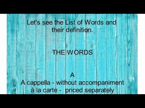 English Dictionary Words A to Z