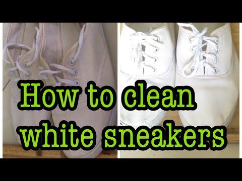 HOW TO CLEAN WHITE SNEAKERS USING BAKING SODA/BICARBONATE SODA| Faridah fafa