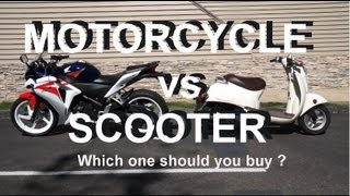 Motorcycle vs Scooter - which should you buy ?