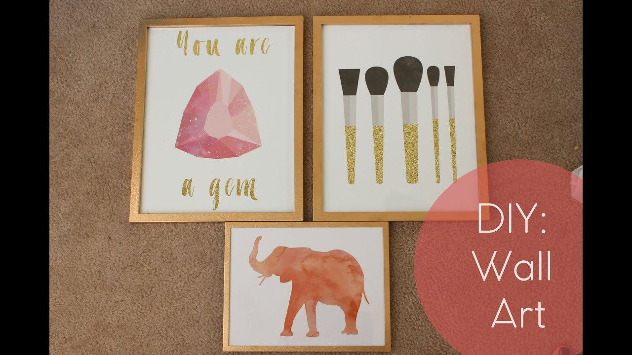 Diy Wall Art Dorm : Dorm decor diy cute framed art