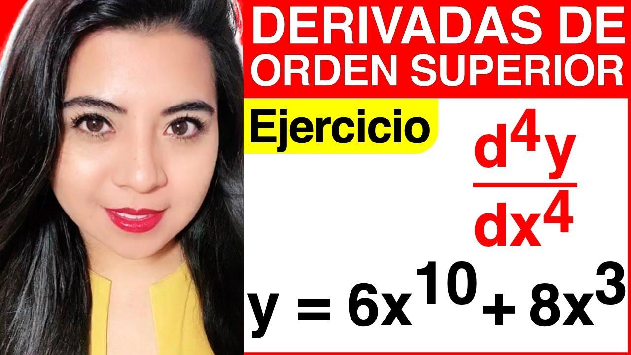 Download DERIVADAS DE ORDEN SUPERIOR - Ejercicio #4 (CÓMO SACAR LA CUARTA DERIVADA)