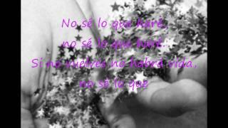SI TU NO VUELVES - Shakira & Miguel Bose (letra)