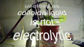 Colloidal Gold High Voltage Method