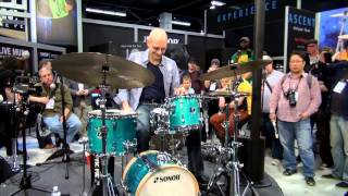 Sonor Presents: Steve Smith Playing the Martini Kit at NAMM 2014