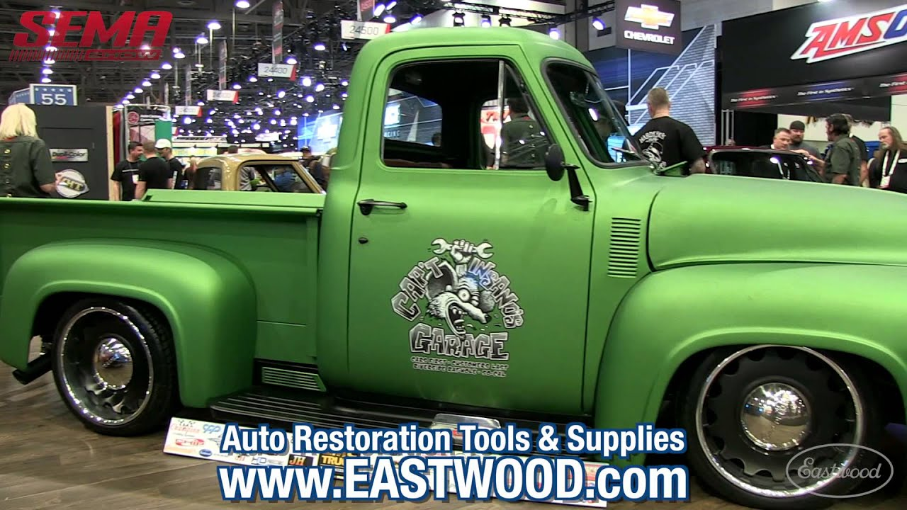 Cool 1955 Ford Pickup Gasser Green With Matte Clear Sema