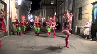 Carnaval Pontevedra 2013  Las Comparsas y el Rey Urco