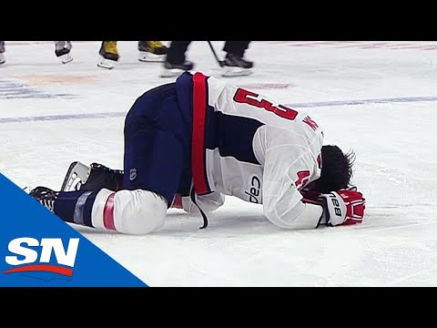Tom Wilson Helped Off Ice After Being Blindsided By Ryan Reaves