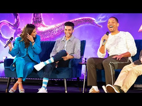 ALADDIN Cast Interviews - Full Press Conference