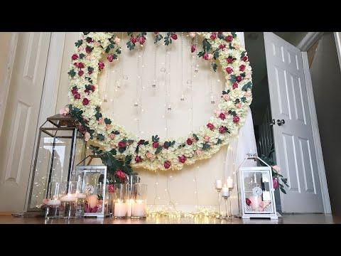 DIY- Round Backdrop Part 2 DIY- floral  Arch Backdrop Diy-Round Flower Backdrop