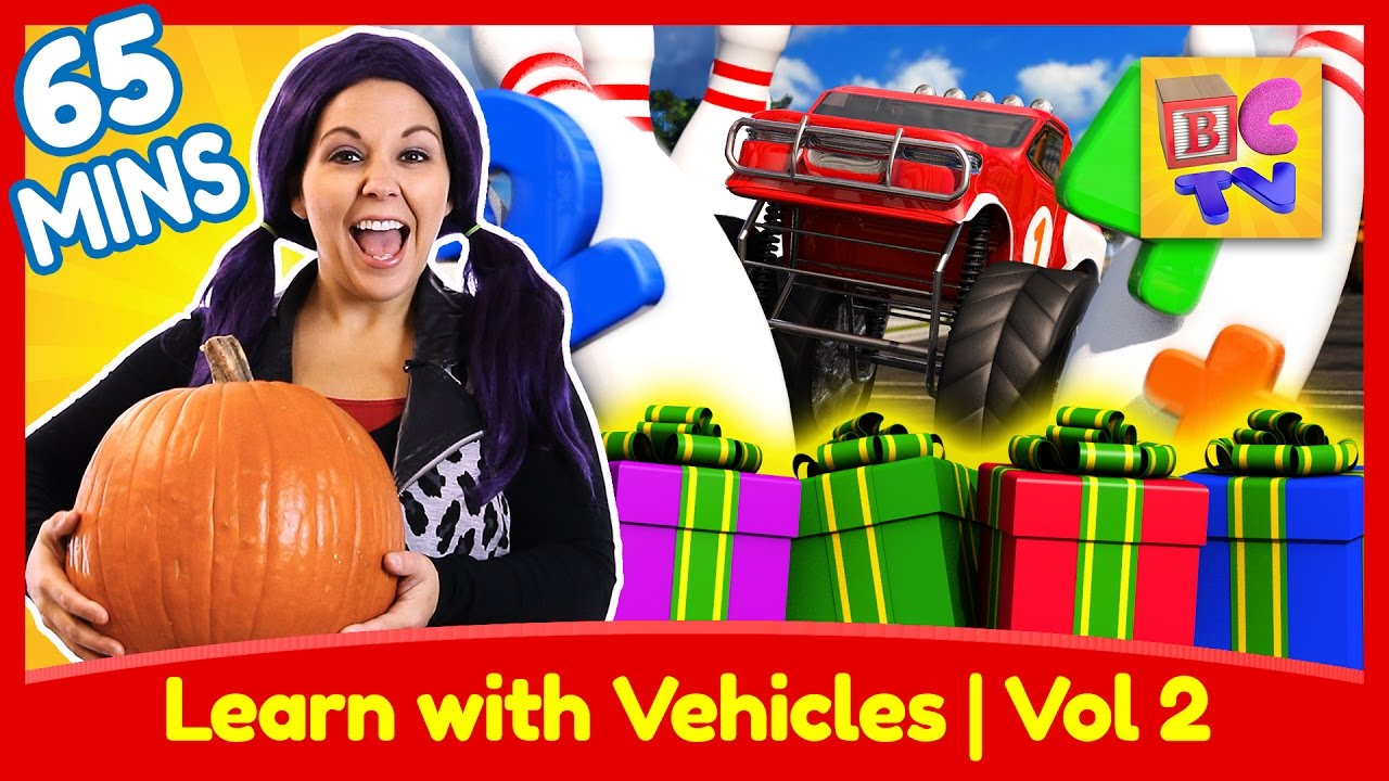 Educational Vehicles Video Collection for Kids | Vol 2 | Fire Truck, Dump Truck, Monster Truck & More preview