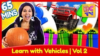 Learning with Vehicles Vol 2 | ABCs, Numbers, Colors and More with Trucks for Kids
