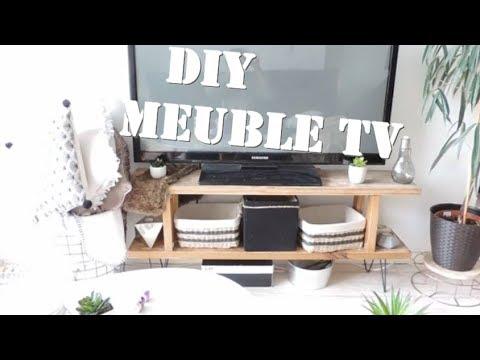 Diy meuble tv industriel pour une deco boho chic nature Diy meuble tv