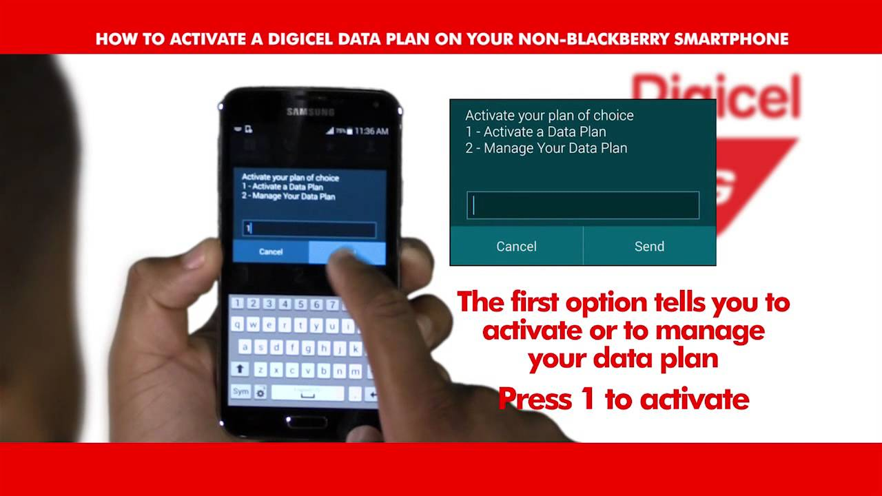 Activating Digicel 4G Data by Dialing *140#