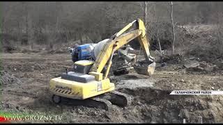 В Галанчожском районе продолжается строительство дорог