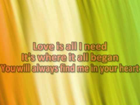 You Will Always Find Me in Your Heart - Karaoke (Piano Acoustic Version)