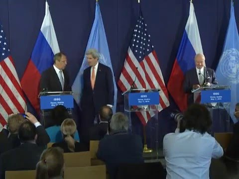 С.Лавров, Дж.Керри, С.де Мистура/Sergey Lavrov, John Kerry, Staffan de Mistura press conference