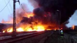 Pożar cysterny - katastrofa kolejowa. Białystok 8.11.10 2017 Video