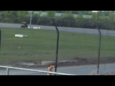 Brian Hudson's Wreck Mohawk International Speedway 9/18/16