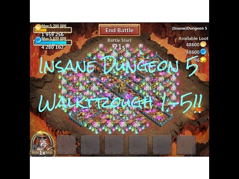 Insane Dungeon 5!! Fast Walkthrough 1-5!!
