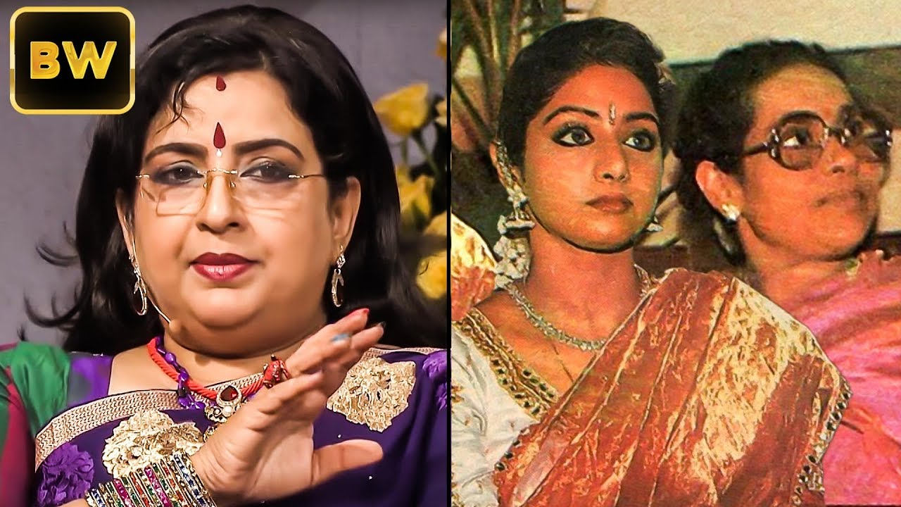 sridevi s emotional bond with her ailing mother actress ambika