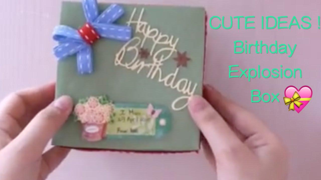 Sweet Birthday Gift Idea For Mom Explosion Box Youtube SaveEnlarge Diy Best Unique Boyfriend Husband