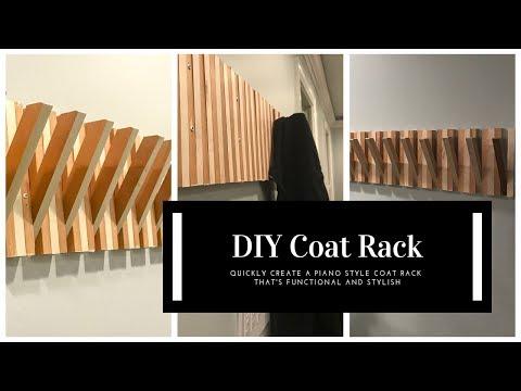 DIY Piano Style Coat Rack
