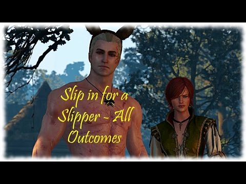 Slip in for a Slipper - Wedding Activity - Witcher 3 - Dead Man's Party - All Outcomes