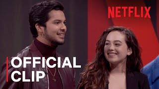 The Netflix Afterparty | Mary And Xolo From Cobra Kai Talk Awkward First Kisses | Netflix