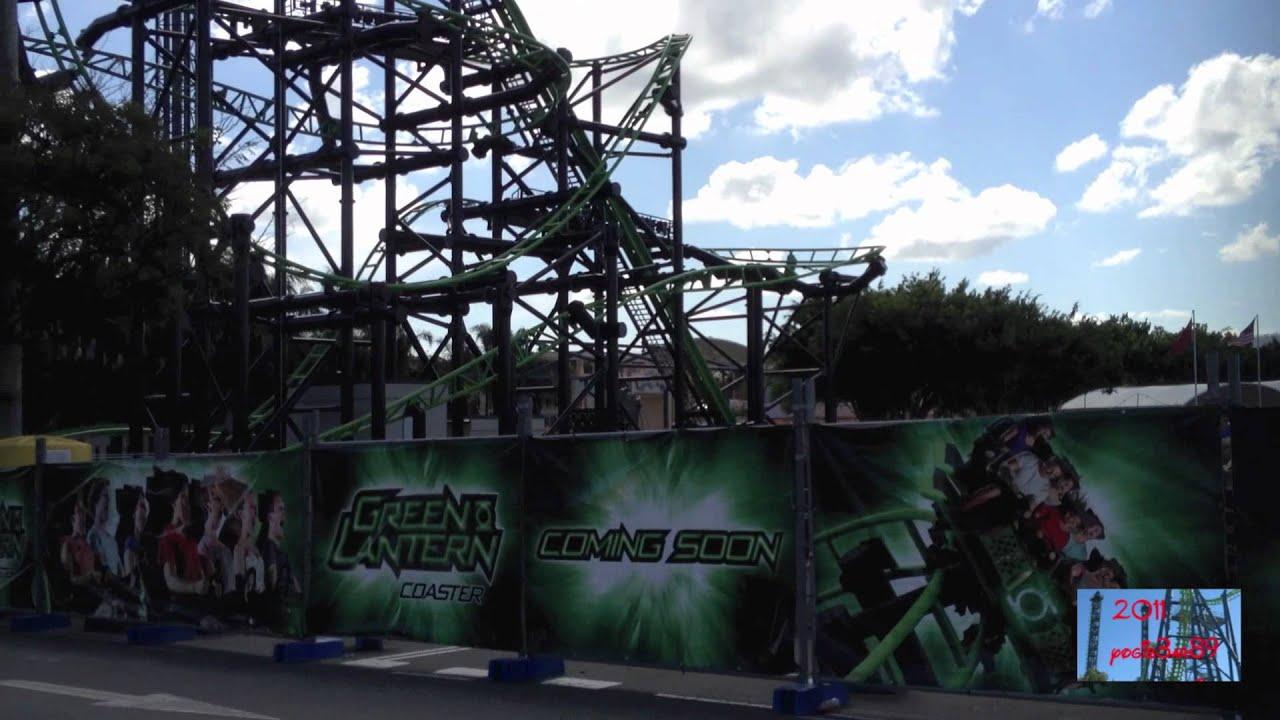 Green Lantern Coaster Warner Bros Movie World Youtube