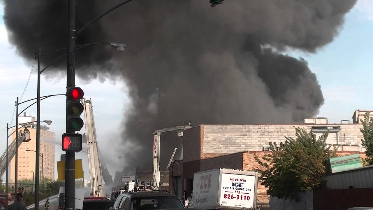 3-11 Alarm Fire Chicago' West Side