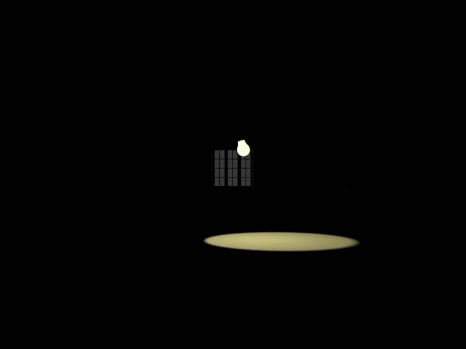 A Lamp In A Dark Room Animation Hd