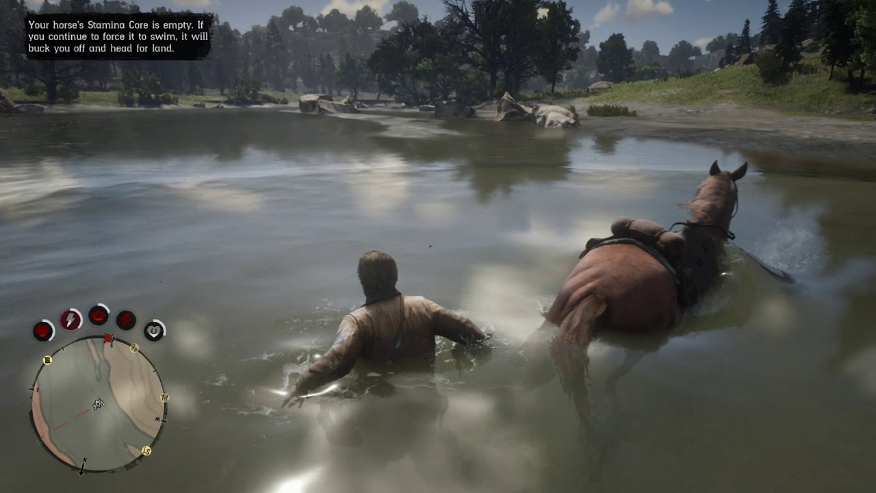Red Dead Redemption 2 Swimming Gameplay! Xbox One S - YouTube