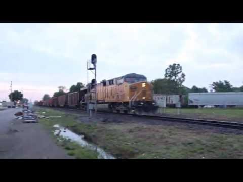 UP Coal Empties pounds the diamond - Marion, Illinois