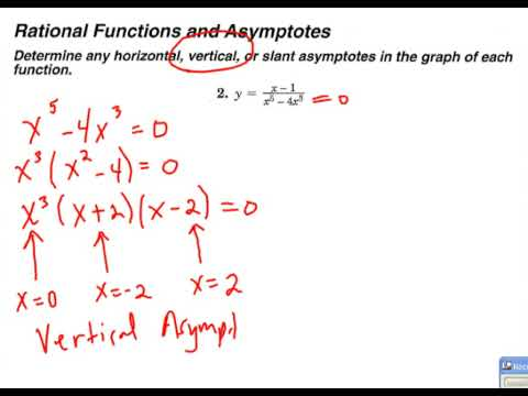 Vertical and horizontal asymptotes of rational functions example vertical and horizontal asymptotes of rational functions example 2 youtube ccuart Choice Image