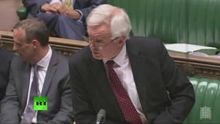 LIVE: David Davis makes Brexit statement in Parliament