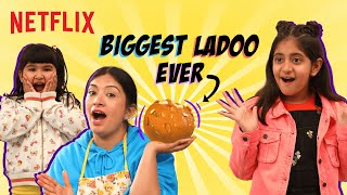 The Biggest Ladoo Ever! | @Cook With Nisha \u0026  @MyMissAnand | Mighty Little Bheem | Netflix India