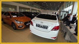 С пробегом-Hyundai Solaris.