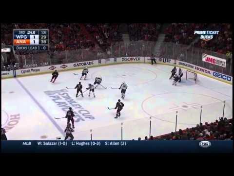 new concept 6531a d8c3a Anaheim Ducks vs Winnipeg Jets. PlayOff NHL 2015